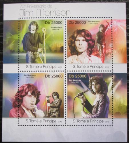 Poštovní známky Svatý Tomáš 2013 The Doors, Jim Morrison Mi# 4991-94 Kat 10€