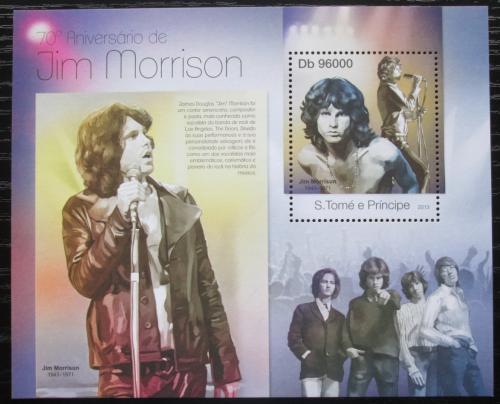 Poštovní známka Svatý Tomáš 2013 The Doors, Jim Morrison Mi# Block 858 Kat 10€