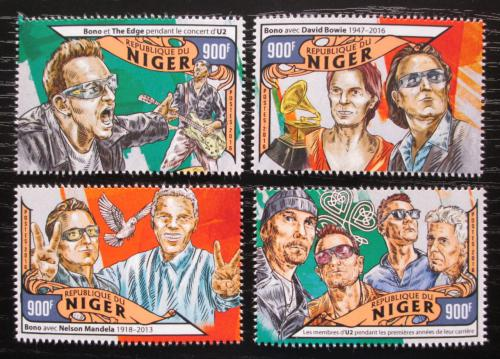 Poštovní známky Niger 2016 U2, hudební skupina Mi# 4067-70 Kat 14€