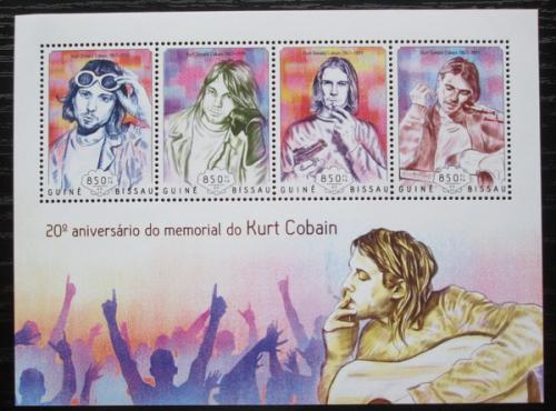 Poštovní známky Guinea-Bissau 2014 Kurt Cobain, Nirvana Mi# 7301-04 Kat 14€