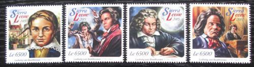 Poštovní známky Sierra Leone 2015 Ludwig van Beethoven Mi# 6783-86 Kat 12€