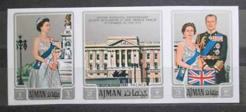 Poštovní známky Adžmán 1971 Královská svatba neperf. Mi# 1010-12 B Kat 8€