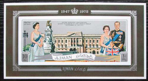 Poštovní známky Adžmán 1971 Královská svatba neperf. Mi# Block 300 B Kat 18€