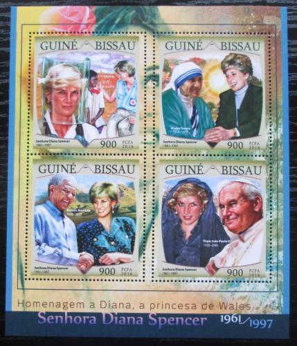 Poštovní známky Guinea-Bissau 2016 Princezna Diana Mi# 8669-72 Kat 13.50€