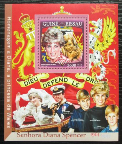 Poštovní známka Guinea-Bissau 2016 Princezna Diana Mi# Block 1503 Kat 13.50€