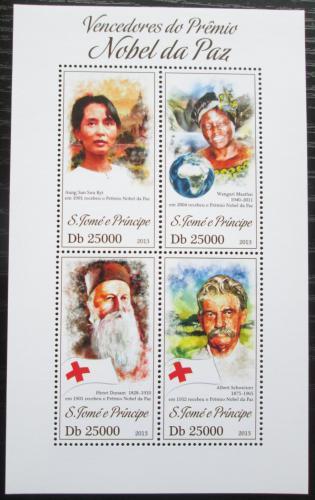 Poštovní známky Svatý Tomáš 2013 Nositelé Nobelovy ceny za mír Mi# 5326-29 Kat 10€
