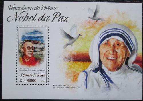 Poštovní známka Svatý Tomáš 2013 Nositelé Nobelovy ceny za mír Mi# Block 925 Kat 10€