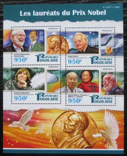 Poštovní známky Togo 2015 Nositelé Nobelovy Mi# 7078-81 Kat 15€