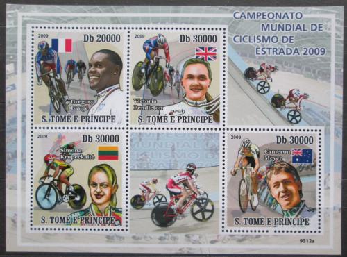 Poštovní známky Svatý Tomáš 2009 MS v dráhové cyklistice Mi# 4078-81 Kat 11€