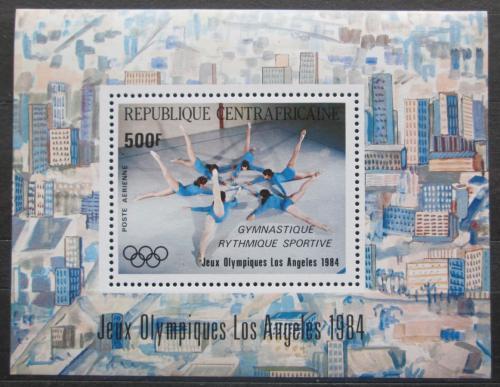 Poštovní známka SAR 1984 LOH Los Angeles, gymnastika Mi# Block 275