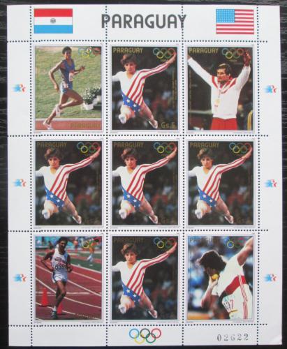 Poštovní známky Paraguay 1985 LOH Los Angeles Mi# 3830 Bogen Kat 24€
