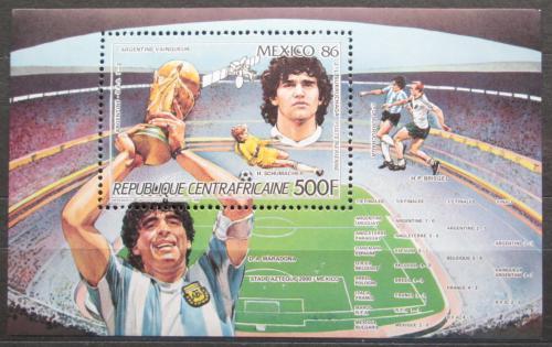 Poštovní známka SAR 1986 MS ve fotbale Mi# Block 386