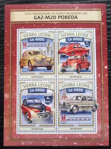 Poštovní známky Sierra Leone 2016 GAZ M20 Pobìda Mi# 7833-36 Kat 11€