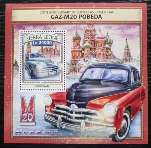 Poštovní známka Sierra Leone 2016 GAZ M20 Pobìda Mi# Block 1099 Kat 11€