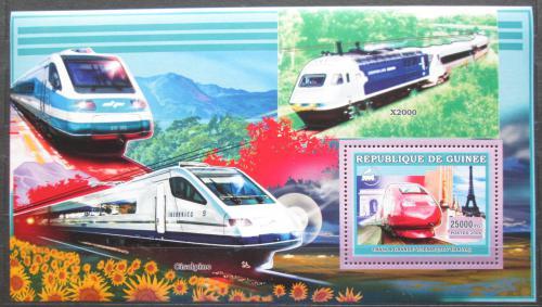 Poštovní známka Guinea 2006 Moderní lokomotivy Mi# Block 1054
