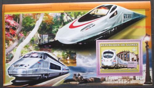 Poštovní známka Guinea 2006 Moderní lokomotivy Mi# Block 1051