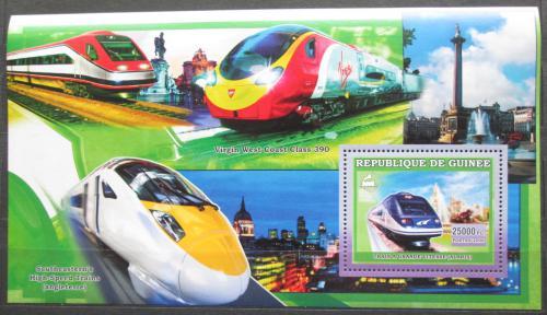 Poštovní známka Guinea 2006 Moderní lokomotivy Mi# Block 1053