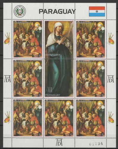Poštovní známky Paraguay 1982 Umìní, život Krista Mi# 3574 Bogen Kat 24€