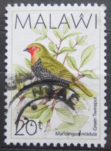 Poštovní známka Malawi 1988 Vloèkovník zelenohøbetý Mi# 508