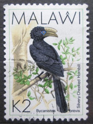 Poštovní známka Malawi 1988 Zoborožec šedolící Mi# 514