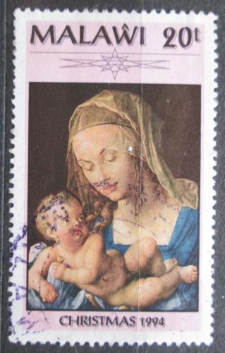 Poštovní známka Malawi 1994 Vánoce, umìní, Albrecht Dürer Mi# 645
