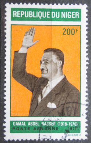 Poštovní známka Niger 1971 Prezident Abd el Nasser Mi# 278