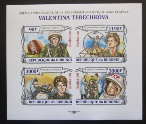 Poštovní známky Burundi 2013 Valentina Tìreškovová neperf. Mi# 3123-26 B Kat 17.80€