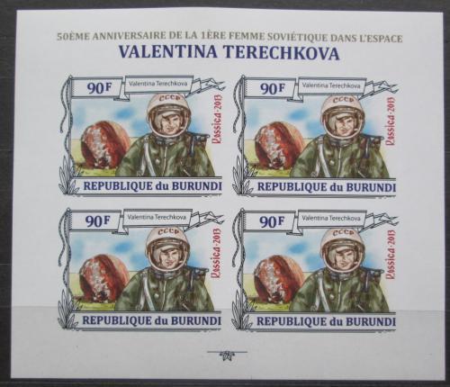 Poštovní známky Burundi 2013 Valentina Tìreškovová neperf Mi# 3123 B Bogen