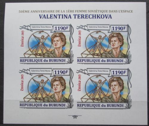 Poštovní známky Burundi 2013 Valentina Tìreškovová neperf Mi# 3124 B Bogen