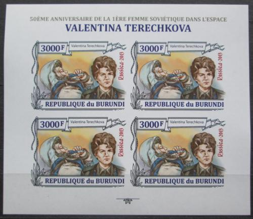 Poštovní známky Burundi 2013 Valentina Tìreškovová neperf Mi# 3125 B Bogen