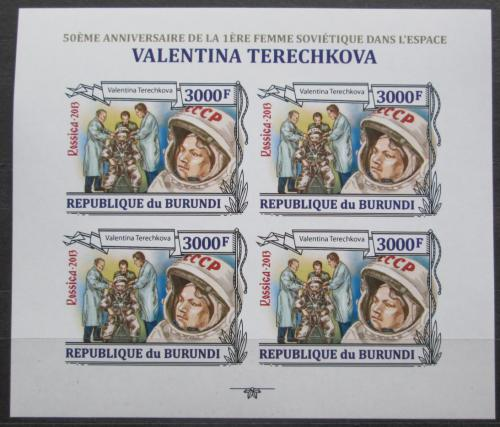 Poštovní známky Burundi 2013 Valentina Tìreškovová neperf Mi# 3126 B Bogen