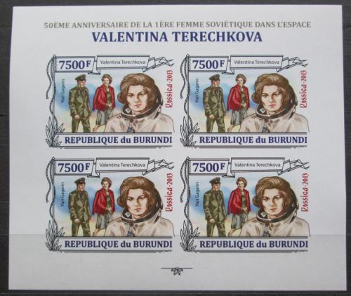 Poštovní známky Burundi 2013 Valentina Tìreškovová neperf Mi# 3127 B Bogen