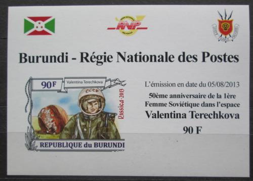 Poštovní známka Burundi 2013 Valentina Tìreškovová DELUXE Mi# 3123 B Block