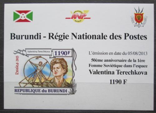 Poštovní známka Burundi 2013 Valentina Tìreškovová DELUXE Mi# 3124 B Block