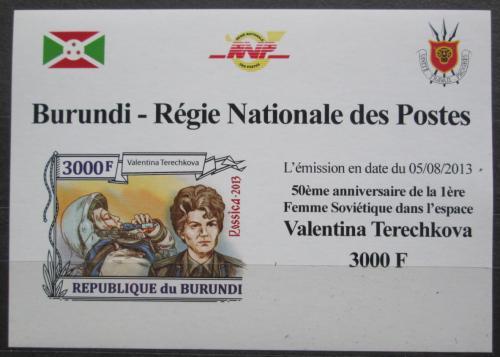 Poštovní známka Burundi 2013 Valentina Tìreškovová DELUXE Mi# 3125 B Block