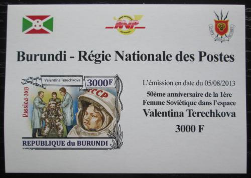Poštovní známka Burundi 2013 Valentina Tìreškovová DELUXE Mi# 3126 B Block
