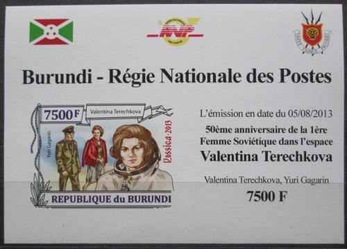 Poštovní známka Burundi 2013 Valentina Tìreškovová DELUXE Mi# 3127 B Block