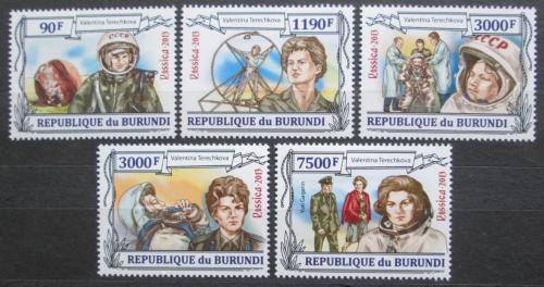 Poštovní známky Burundi 2013 Valentina Tìreškovová Mi# 3123-27 Kat 8.90€
