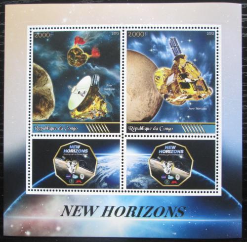 Poštovní známky Kongo 2015 Vesmírná mise New Horizons Mi# N/N