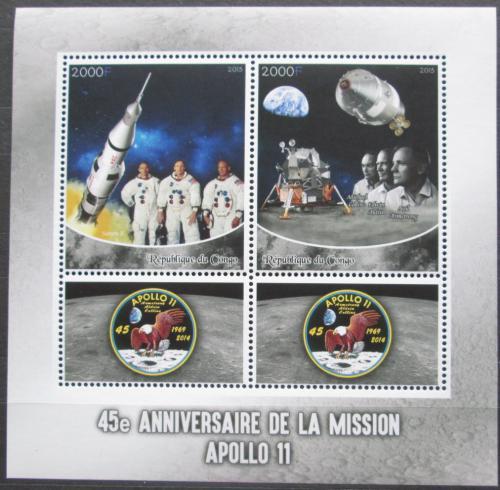 Poštovní známky Kongo 2015 Prùzkum Mìsíce, Apollo 11 Mi# N/N