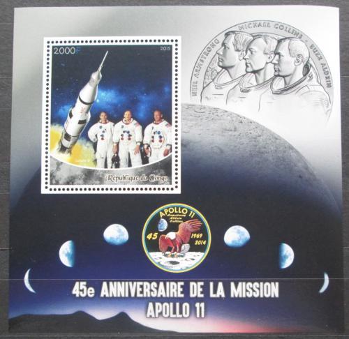 Poštovní známka Kongo 2015 Prùzkum Mìsíce, Apollo 11 Mi# N/N