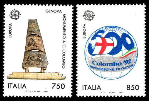 Poštovní známky Itálie 1992 Evropa CEPT, objevení Ameriky Mi# 2213-14 Kat 5€