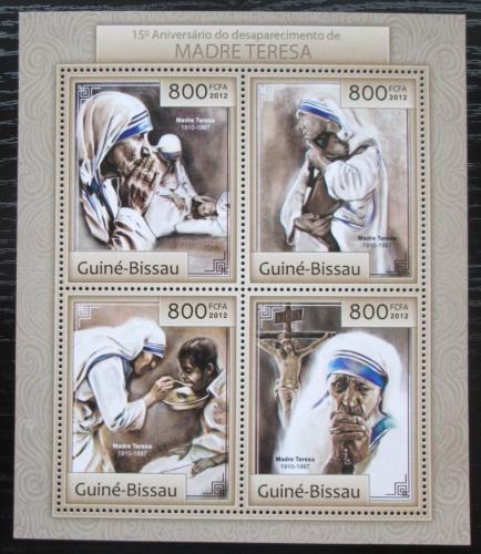 Poštovní známky Guinea-Bissau 2012 Matka Tereza Mi# 6362-65 Bogen Kat 13€