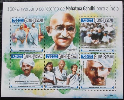 Poštovní známky Guinea-Bissau 2015 Mahátma Gándhí Mi# 8193-97 Kat 13.50€