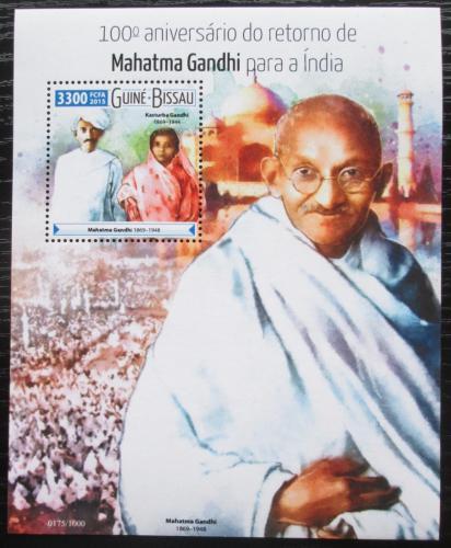 Poštovní známka Guinea-Bissau 2015 Mahátma Gándhí Mi# Block 1422 Kat 12.50€