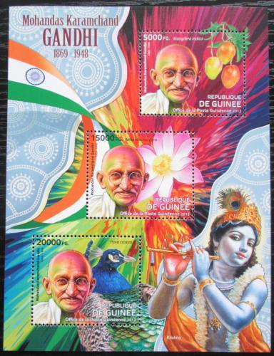 Poštovní známky Guinea 2012 Mahátma Gándhí Mi# 9260-62 Kat 16€