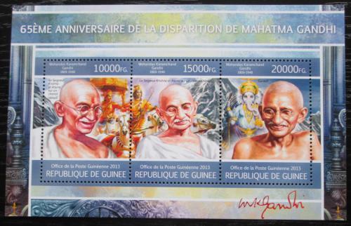 Poštovní známky Guinea 2013 Mahátma Gándhí Mi# 9757-59 Kat 18€