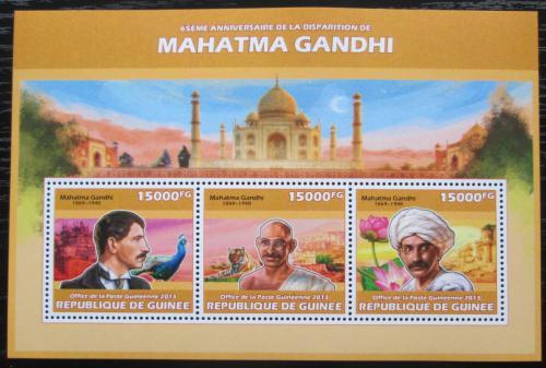 Poštovní známky Guinea 2013 Mahátma Gándhí Mi# 10157-59 Kat 18€
