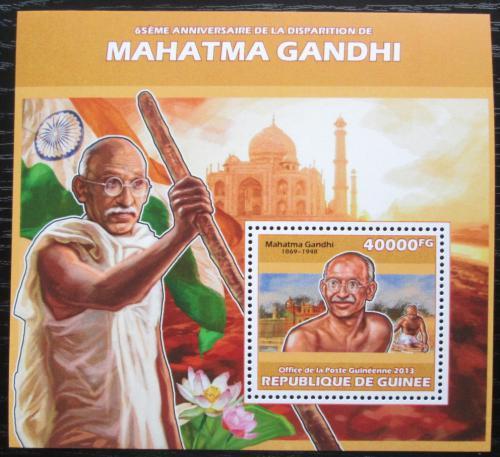 Poštovní známka Guinea 2013 Mahátma Gándhí Mi# Block 2316 Kat 16€