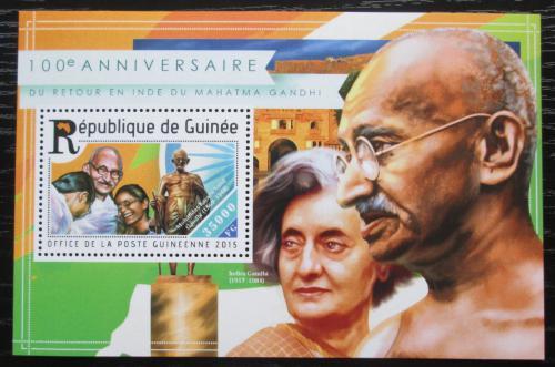 Poštovní známka Guinea 2015 Mahátma Gándhí Mi# Block 2518 Kat 14€